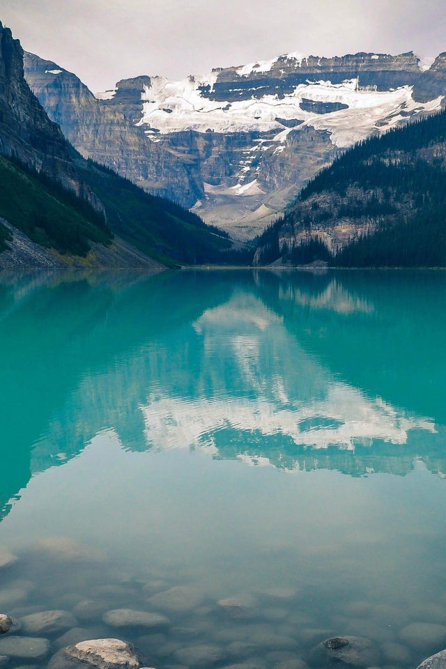 Canada Lake Louise Green Water Nature Android wallpaper