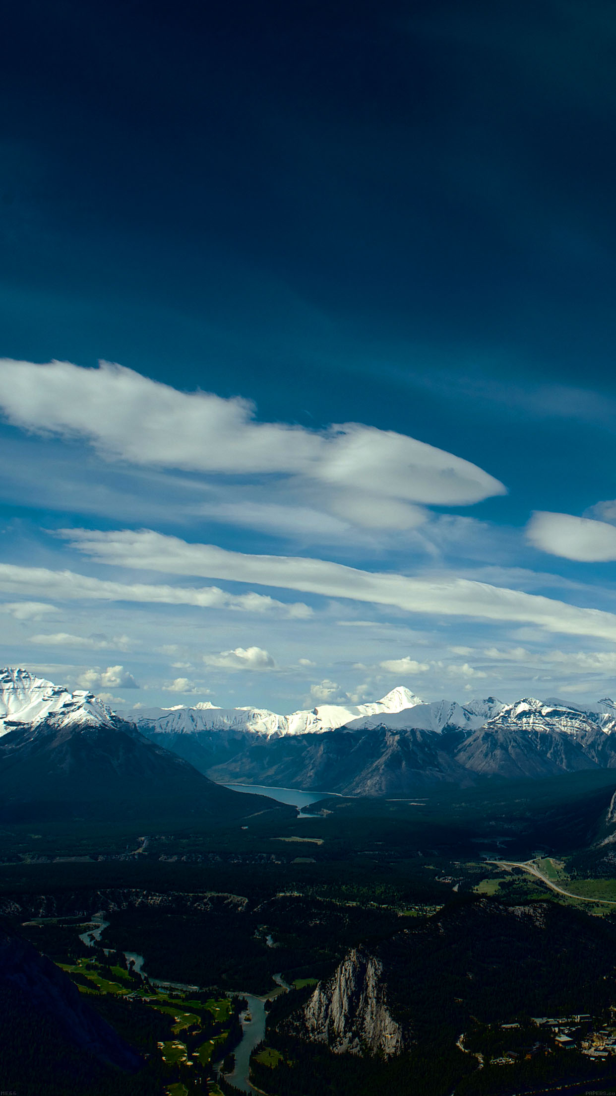 Canada Mountain Sky Snow High Nature Android wallpaper
