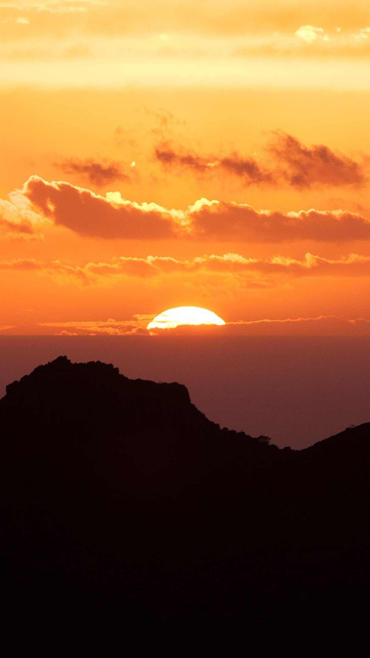 Canary Island Sunset Sky Mountain Nature Android wallpaper