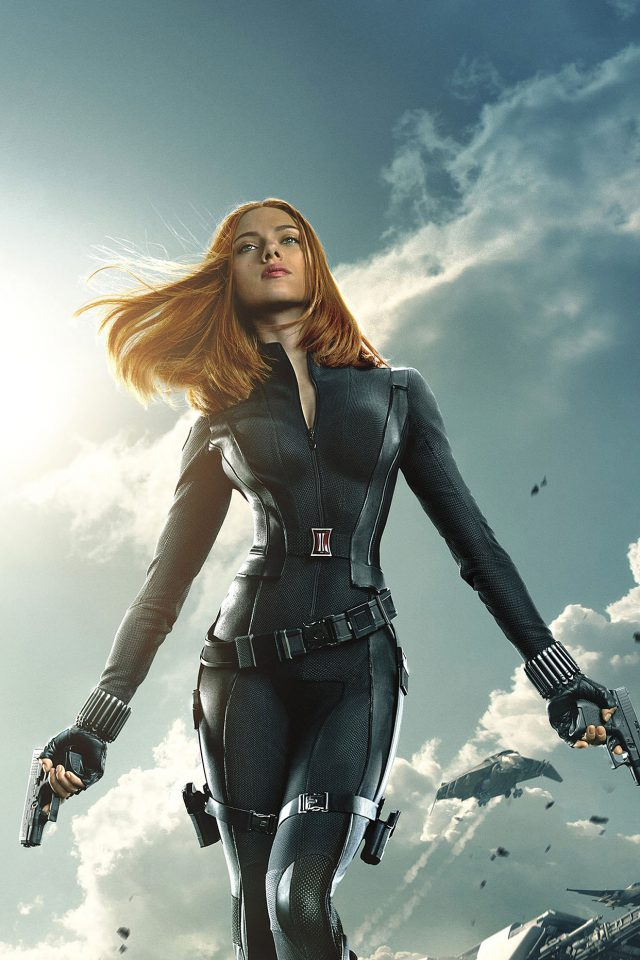 Captain America Black Widow Film Face Android wallpaper