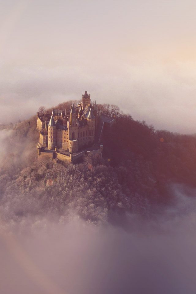 Castle Sky Cloud Dream Fantasy Art Nature Flare Android wallpaper