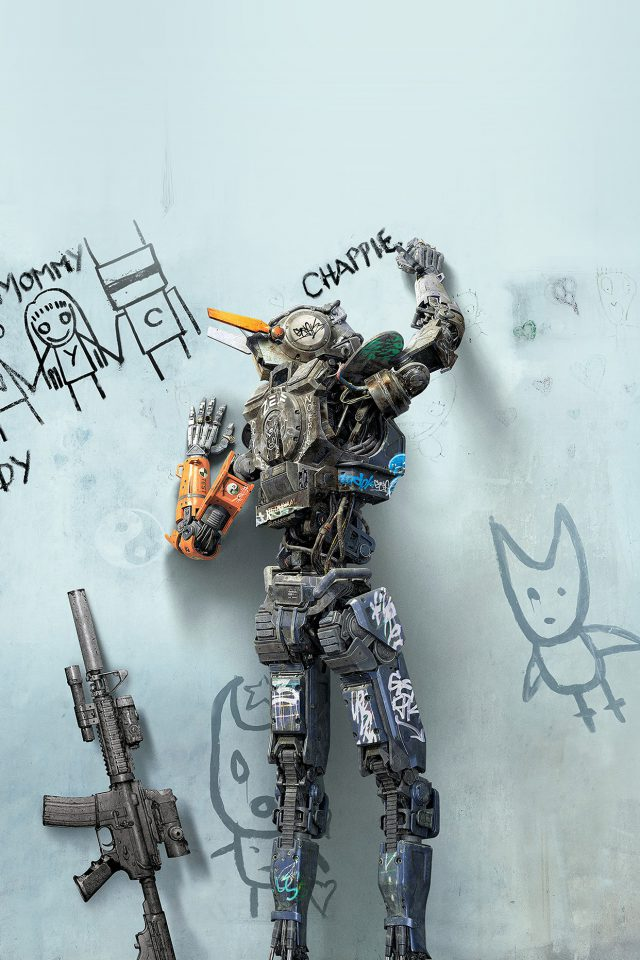 Chappie Robot Art Film Poster Android wallpaper