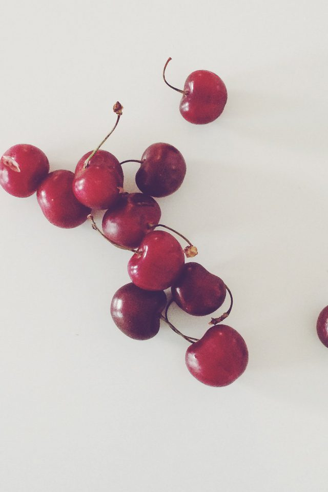 Cherry Red Paula Borowska Fruit Nature Android wallpaper