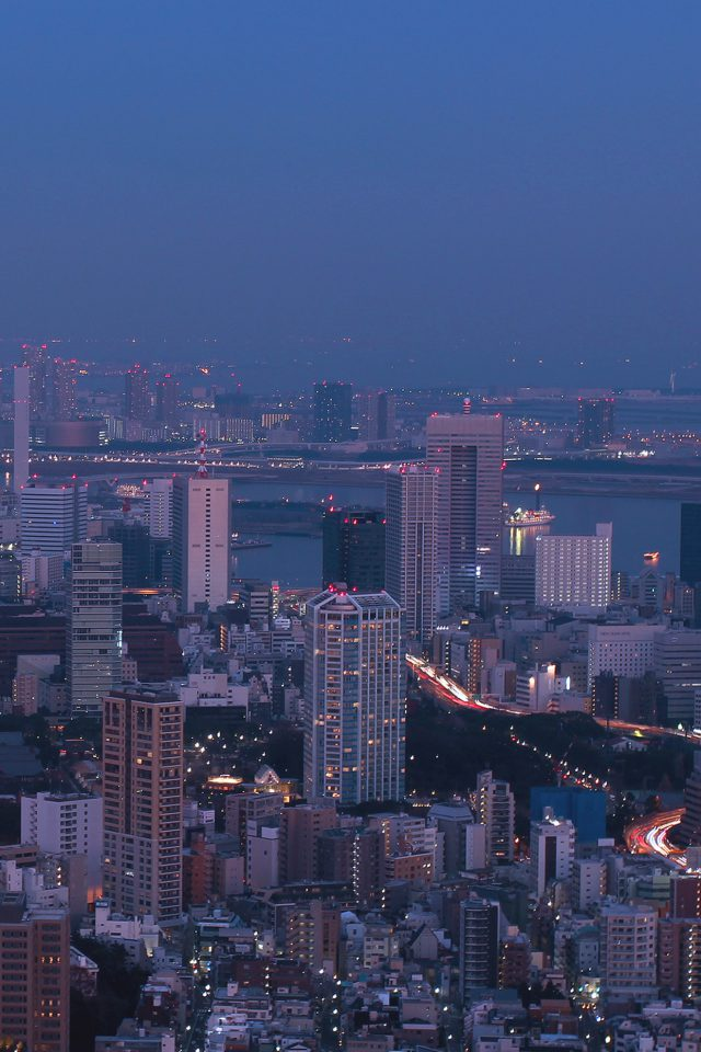 City Tokyo Nature Night Photo Android wallpaper