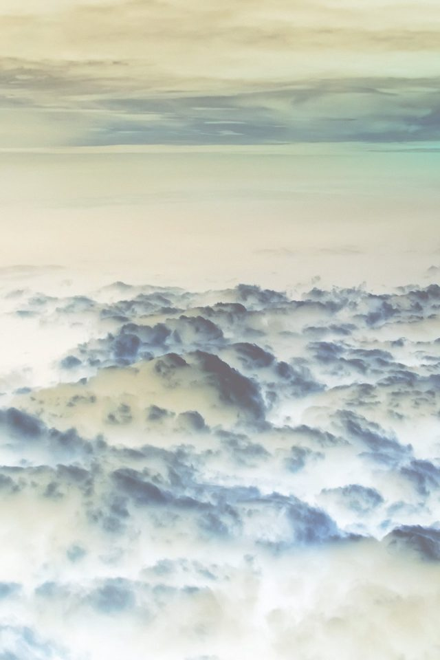 Cloud Flare Sky View Nature White Blue Android wallpaper