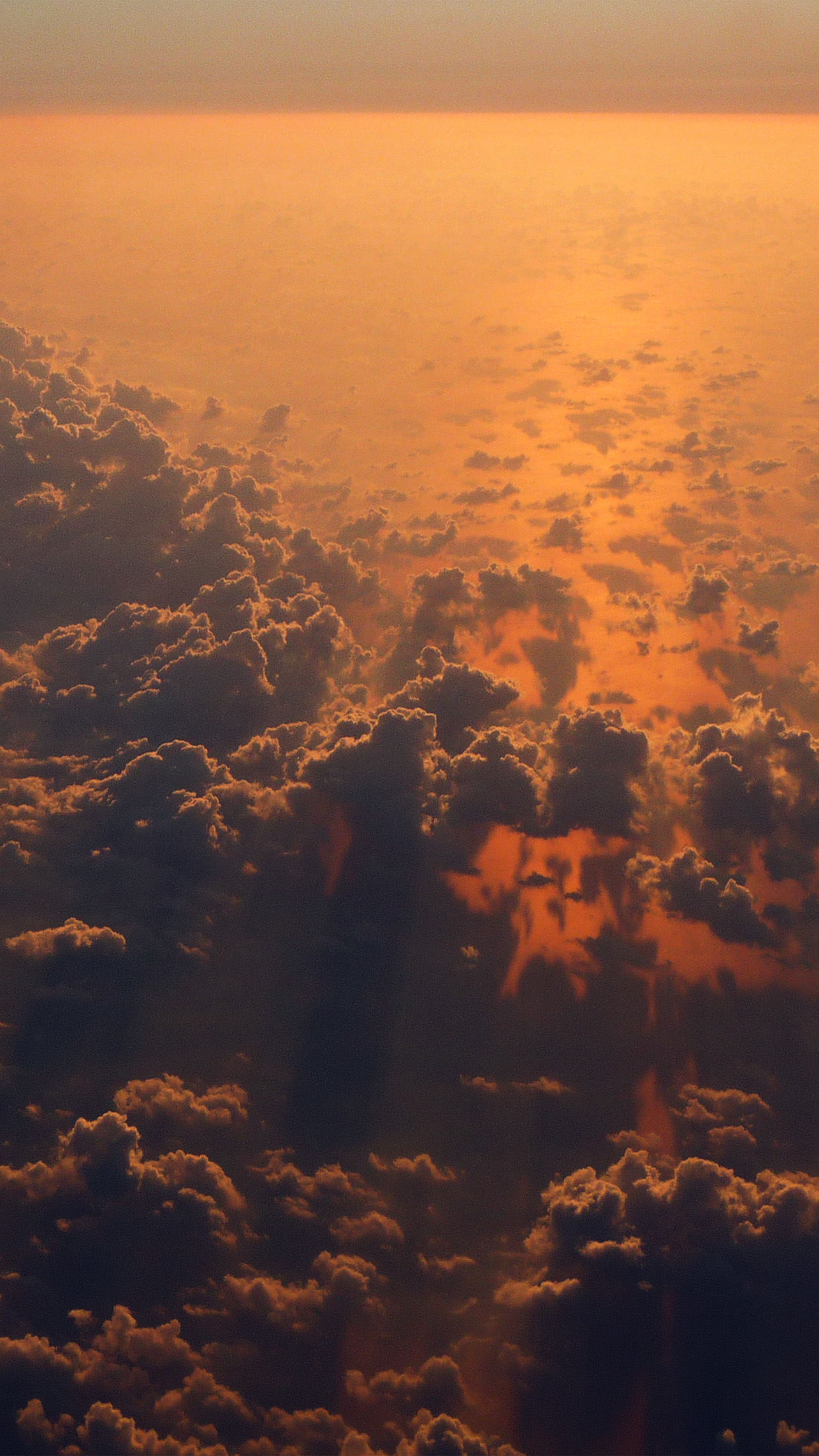Cloud Nine Sky Fly Sunset Red Nature Android Wallpaper Android