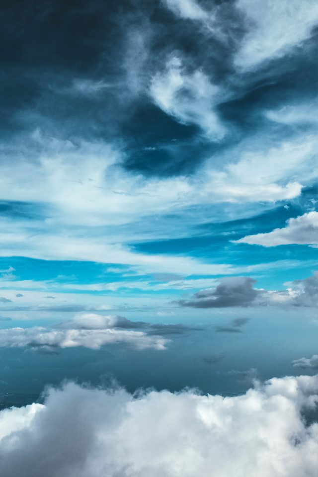 Cloud Sky Nature Blue Android wallpaper