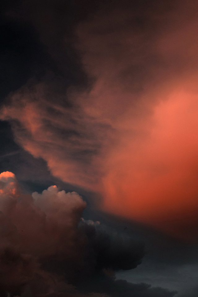Cloud Sky Sunset Red Dark Nature Pattern Android wallpaper