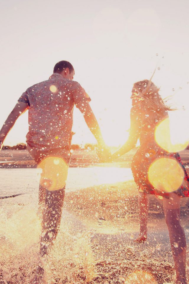Couple Love Beach Happy Marry Me Nature Dark Android wallpaper