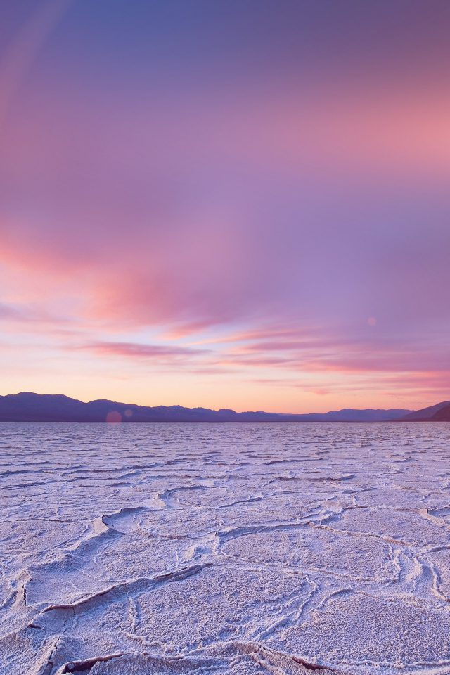 Dead Sea Snow Sunset Mountain Nature Flare Android wallpaper