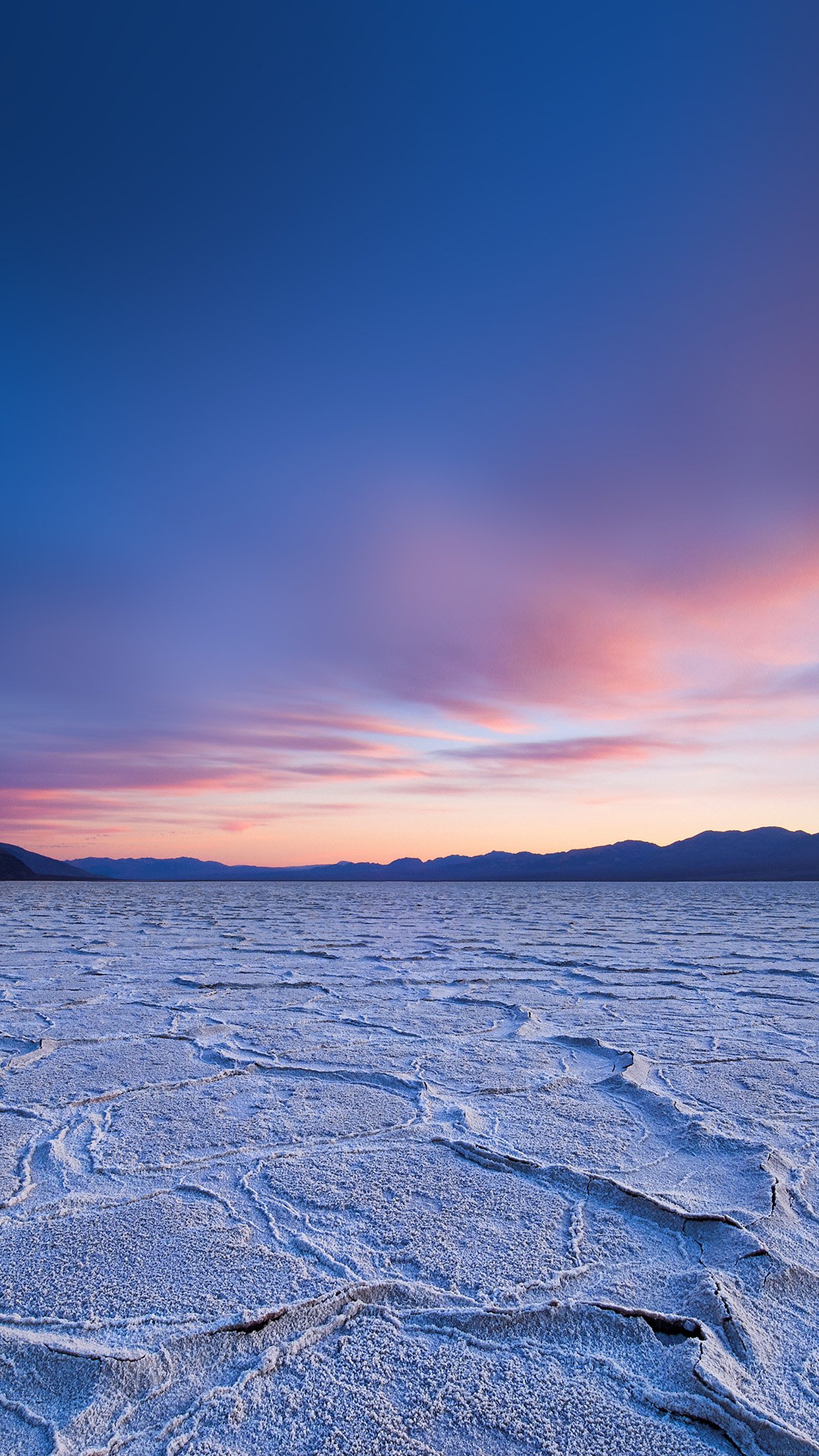 Dead Sea Snow Sunset Mountain Nature Android wallpaper