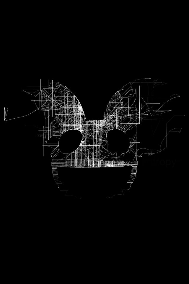 Deadmau5 Black Logo Art Music Android wallpaper