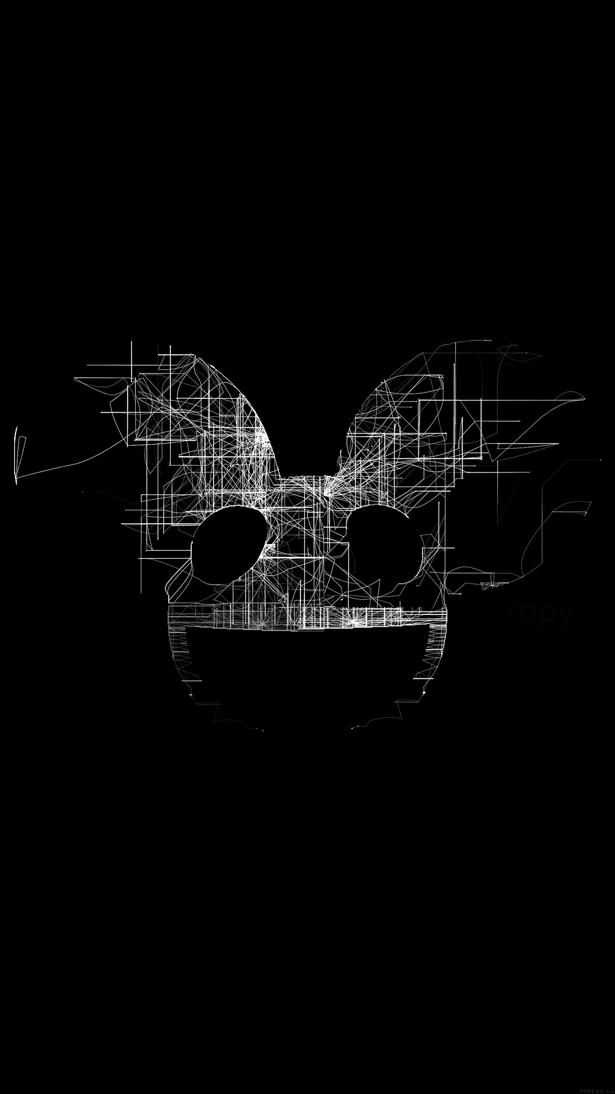 deadmau5 black logo art music android wallpaper android hd wallpapers