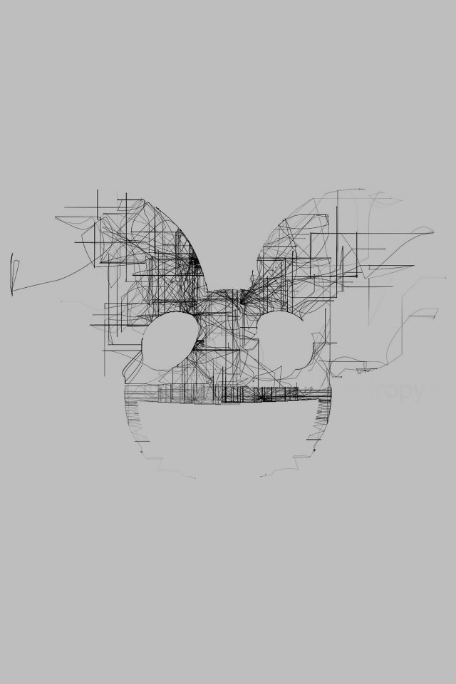 Deadmau5 White Logo Art Music Android wallpaper