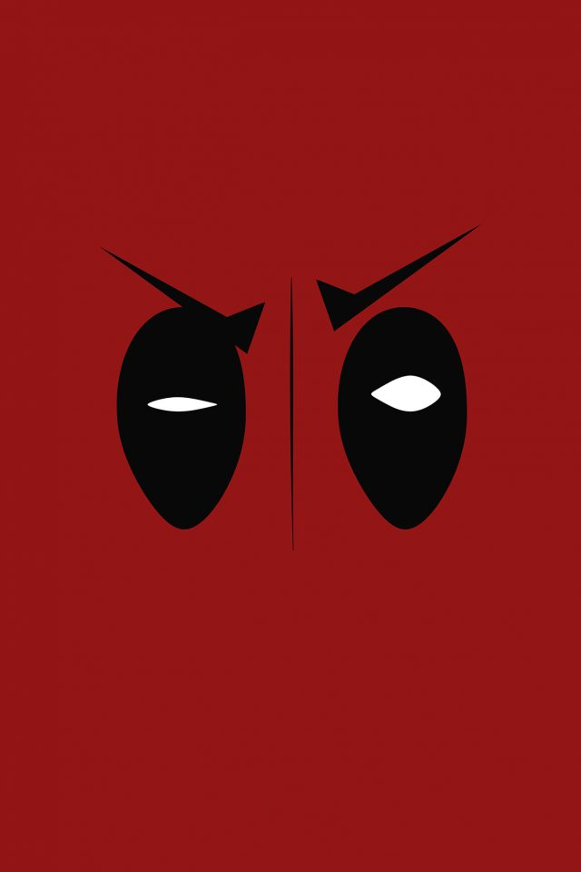 Deadpool Hero Eye Logo Art Film Android wallpaper