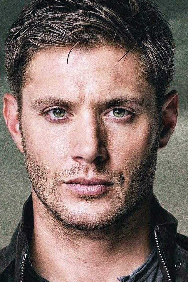 Dean Winchester Paint Film Face Android wallpaper