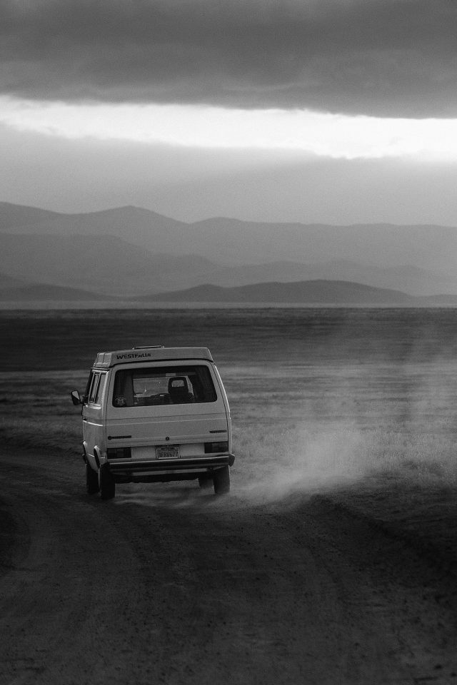 Desert Car Dark Bw Drive Nature Love Android wallpaper