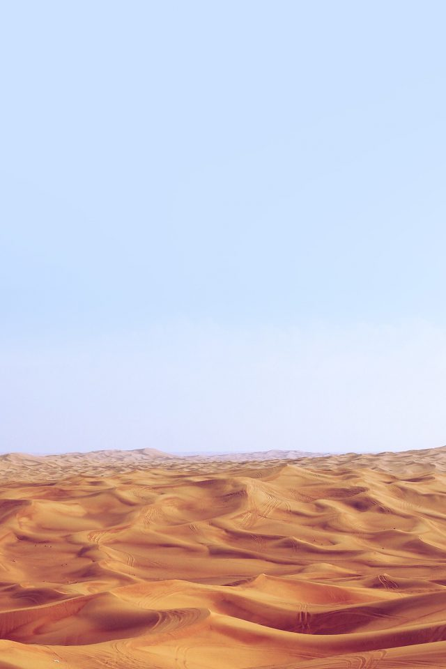 Desert Minimal Blue Nature Sky Earth Android wallpaper