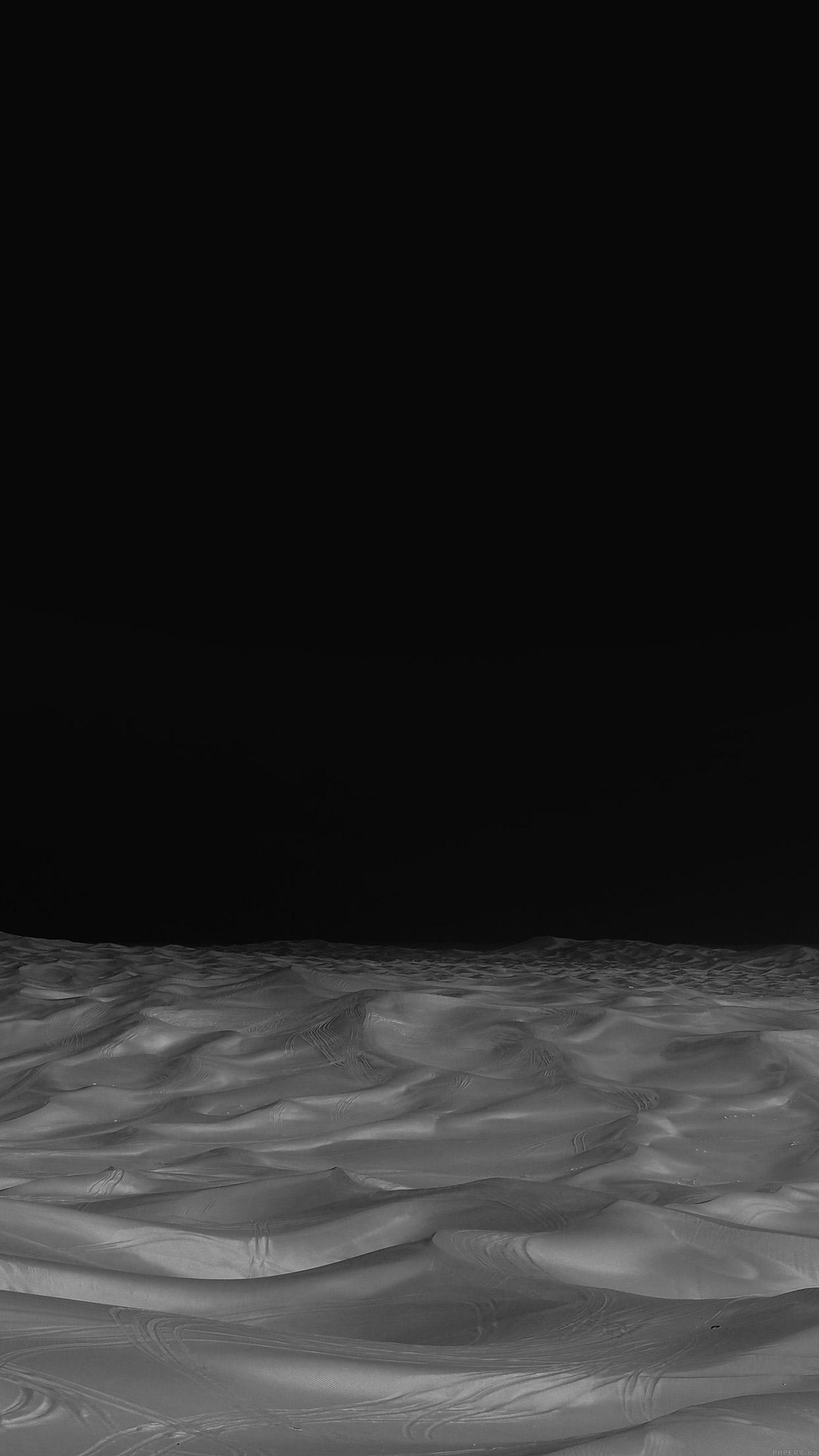 Desert Minimal Dark Black Nature Sky Earth Android Wallpaper