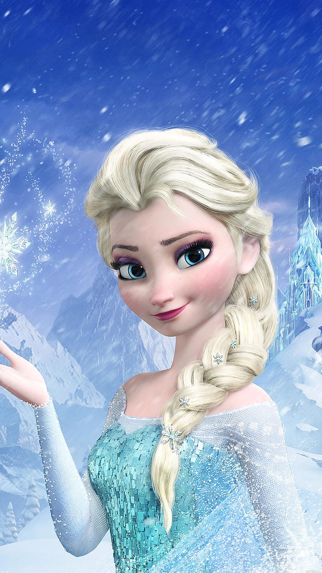 Elsa Frozen Queen Illus Filmt Disney Art Android wallpaper