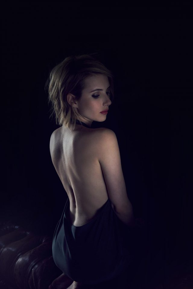 Emma Roberts Sexy Back Film Actress Android wallpaper