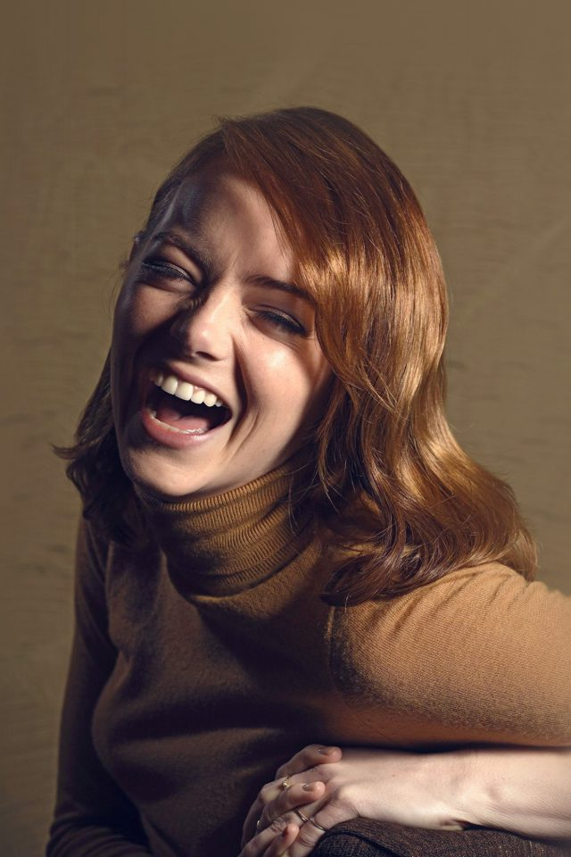 Emma Stone Smile Celebrity Actress Film Android wallpaper