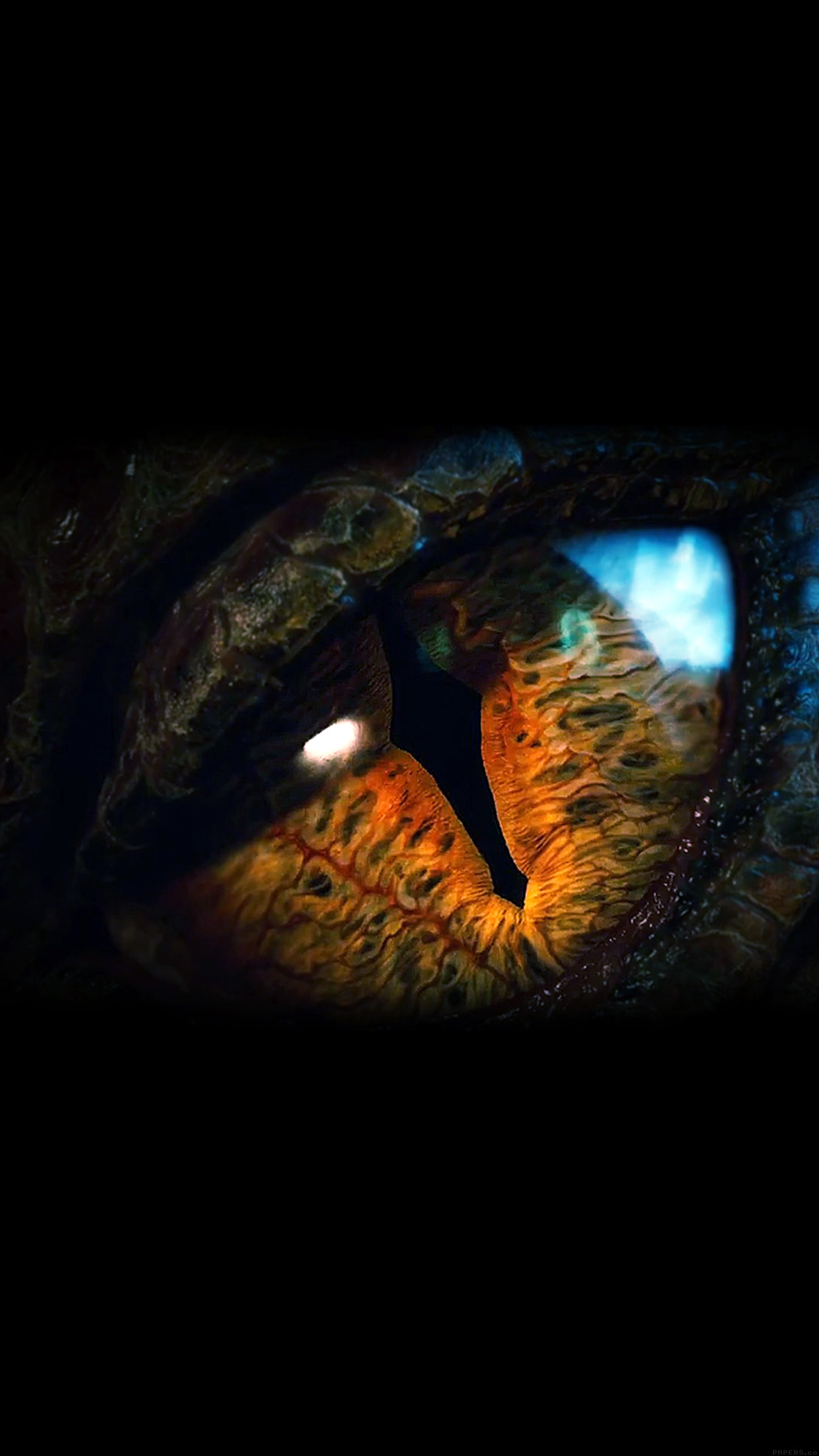 Eye Dragon Film Hobbit The Battle Five Armies Art Dark Android wallpaper