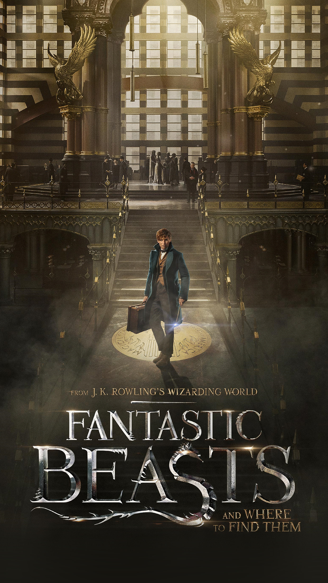 Fantastic Beasts And Where To Find Them Film Illustration Art Poster Android wallpaper