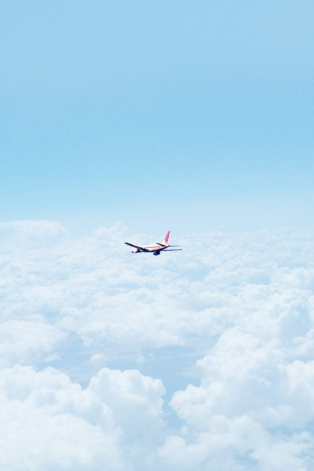 Flight Sky Plane Cloud Nature Android wallpaper