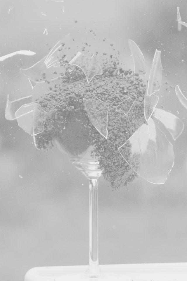 Glass Breaking Nature Art White Bw Android wallpaper
