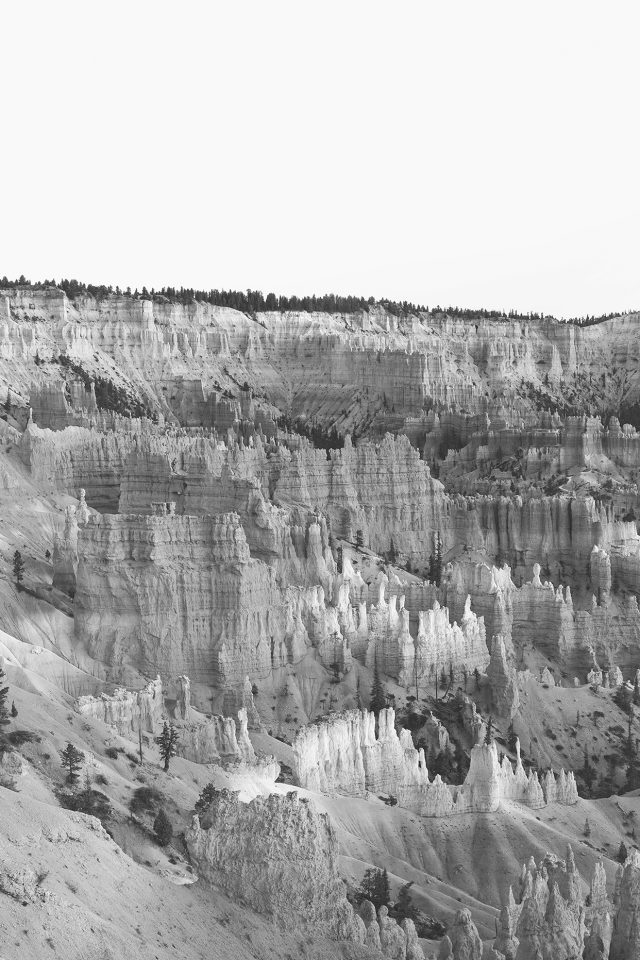 Grand Canyon Creek Nature Desert Scene Bw Android wallpaper