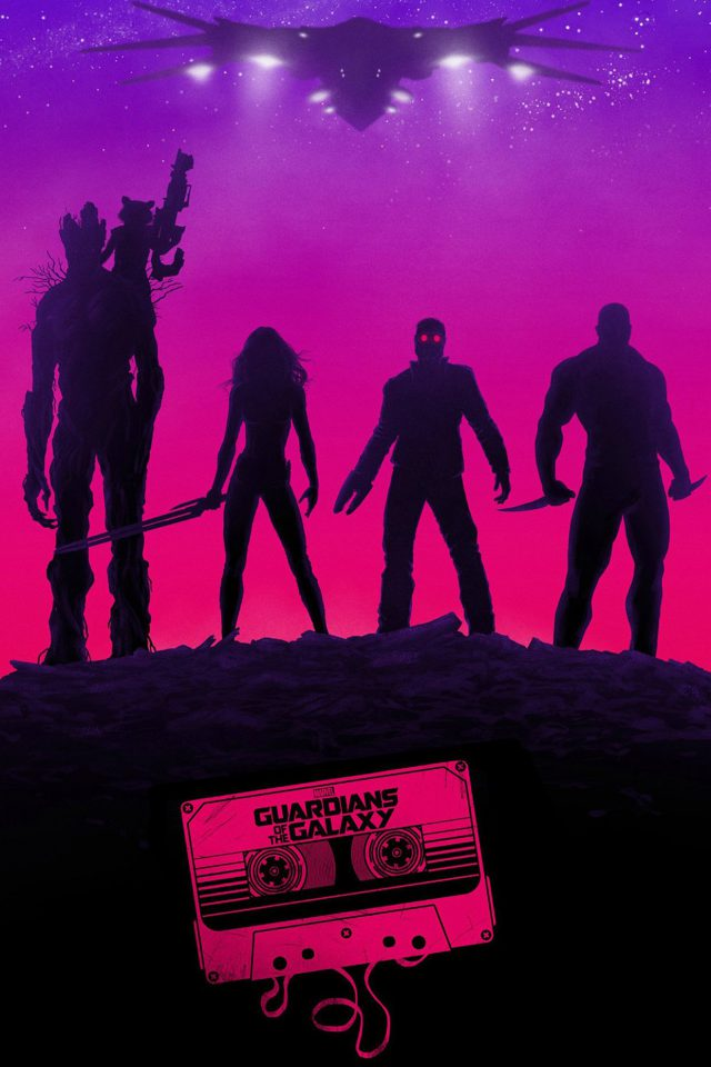 Guardians Of The Galaxy Poster Film Art Illust Android wallpaper