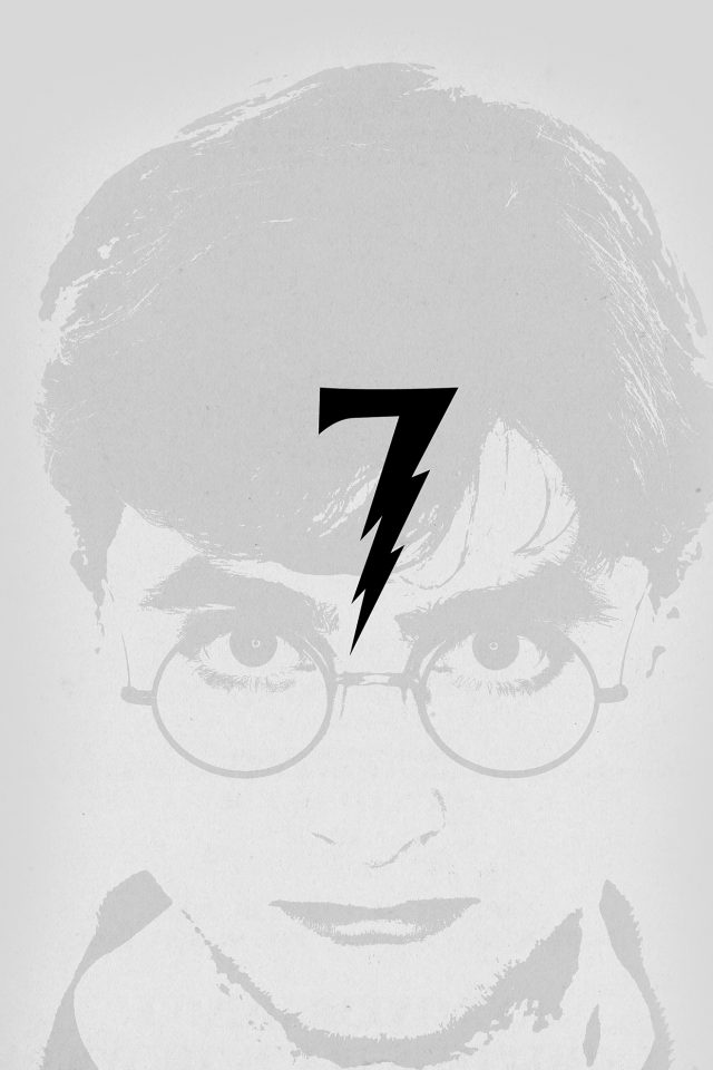 Harry Potter Art Minimal Film Gray Android wallpaper