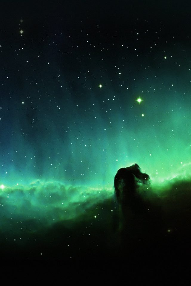 Horse Head Blue Nebula Sky Space Stars Android wallpaper
