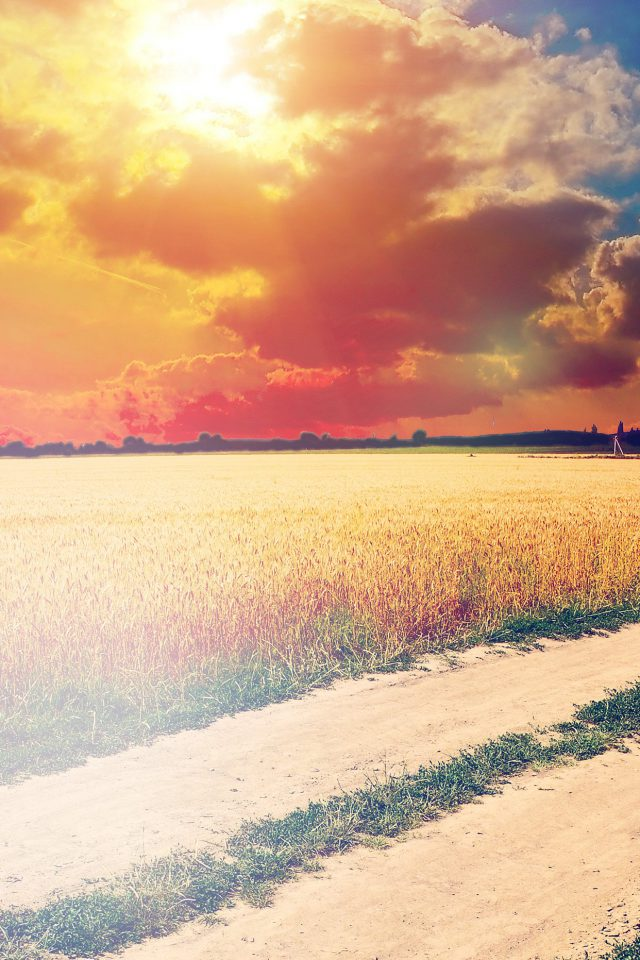 Hot Sunny Day Awesome Instagram Look Nature Farm Android wallpaper