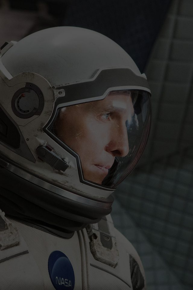 Interstellar Cooper Film Dark Actor Matthew Mcconaughey Android wallpaper