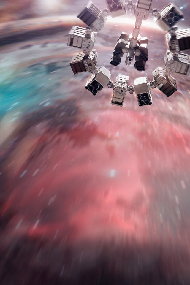Interstellar Film Space Art Illust Android wallpaper