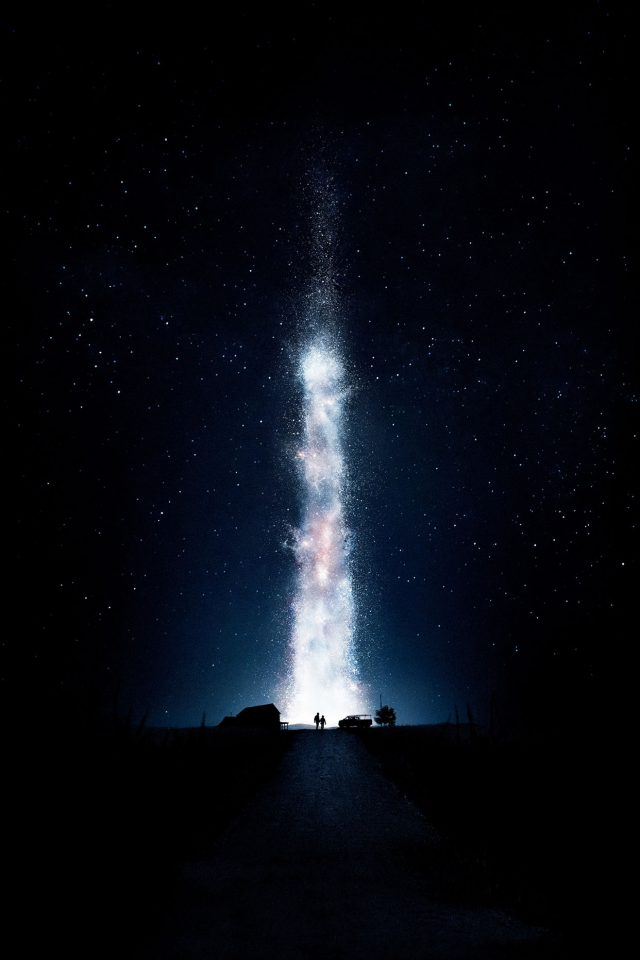 Interstellar Space Night Stars Fire Best Android wallpaper