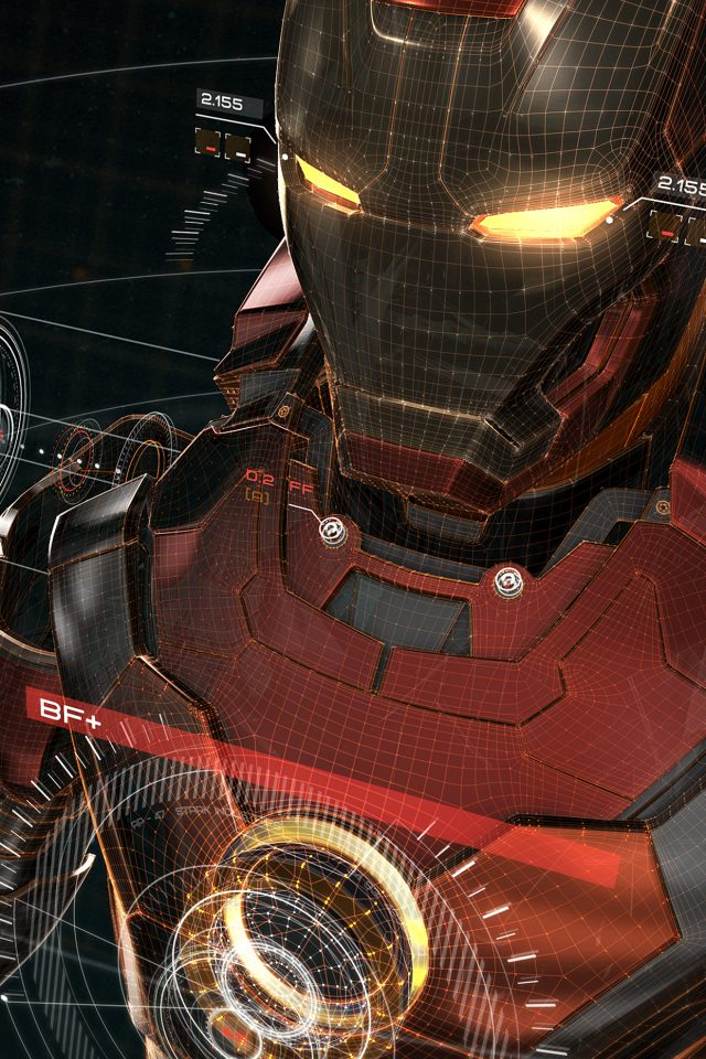 Ironman 3d Red Game Avengers Art Illustration Hero Android wallpaper