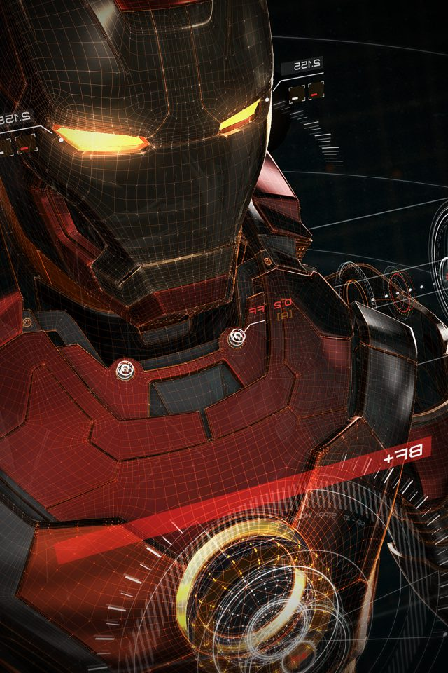 Ironman 3d Red Game Avengers Art Illustration Hero Vignette Android wallpaper