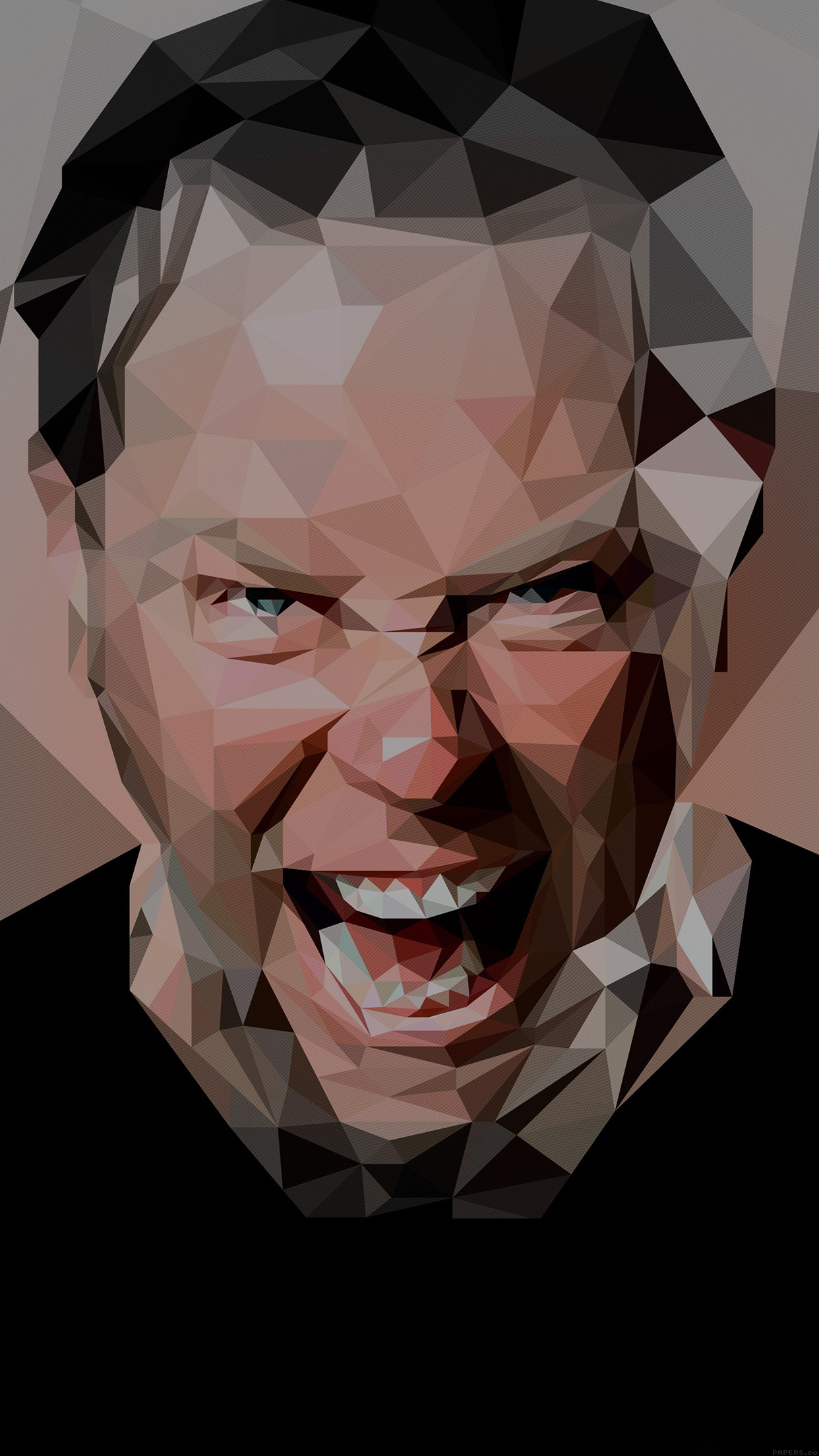 James Hetfield Music Metallica Bw Android wallpaper