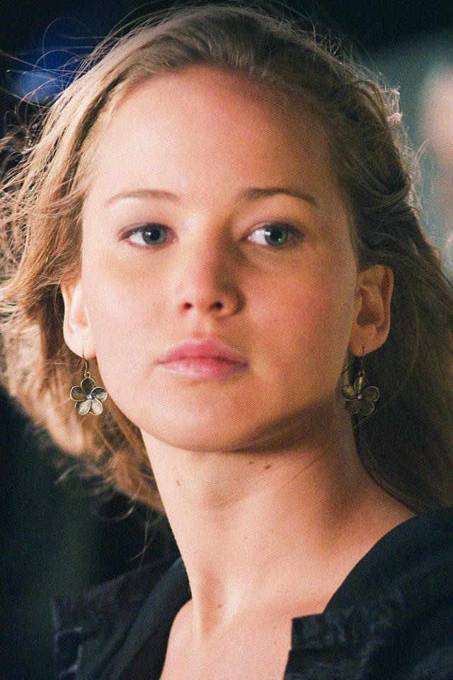 Jennifer Lawrence Natural Film Girl Face Android wallpaper