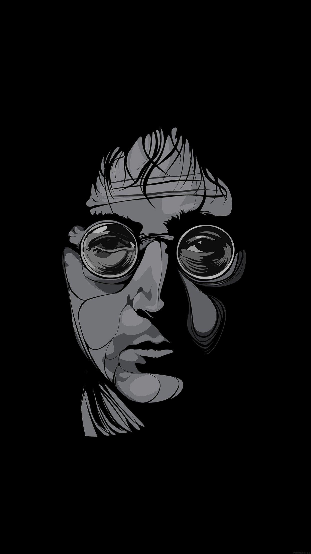 John Lennon Illust Art Music Android Wallpaper