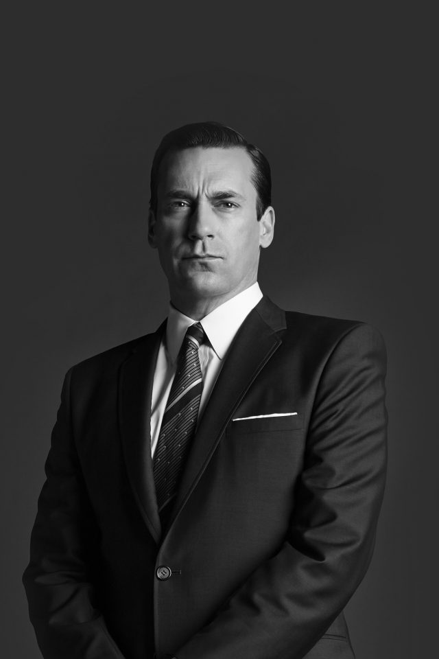 Jon Hamn Mad Men Film Actor Dark Bw Android wallpaper