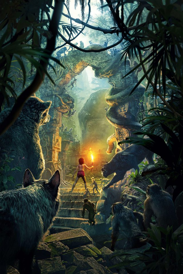 Junglebook Art Film 2016 Poster Nature Android wallpaper