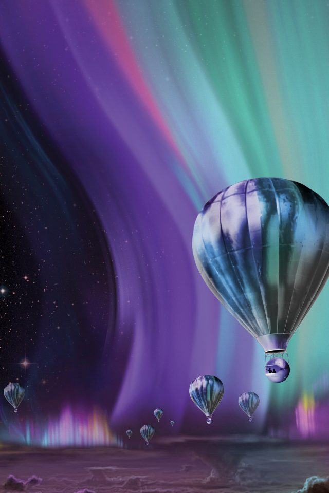 Jupiter Aurora Space Sky Art Illustration Android wallpaper