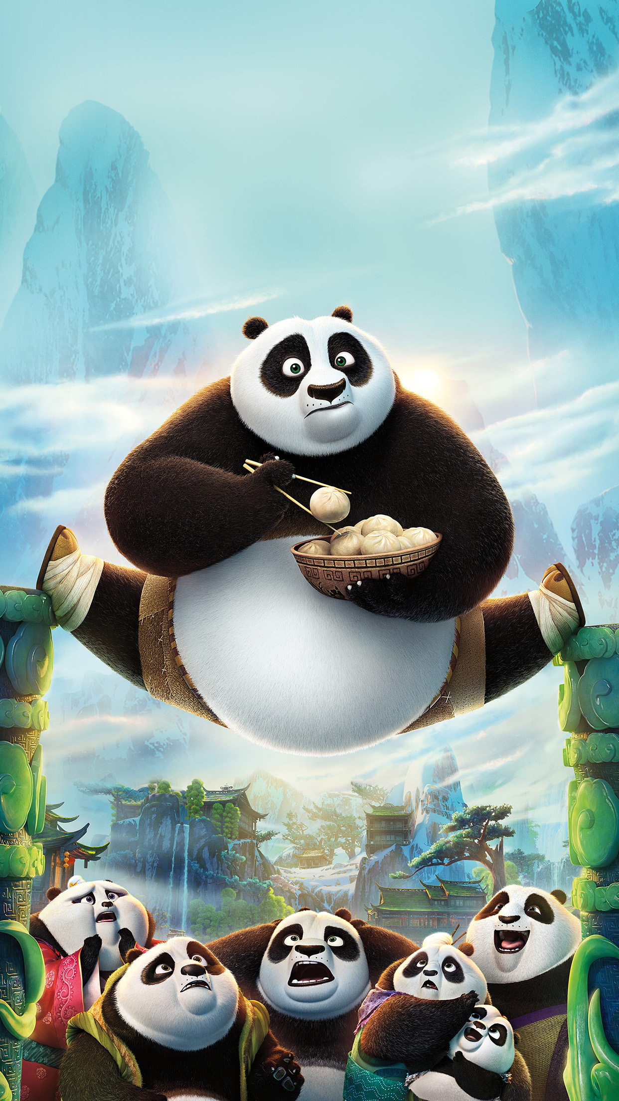 Kungfu Panda Art Illust Film Disney Android Wallpaper