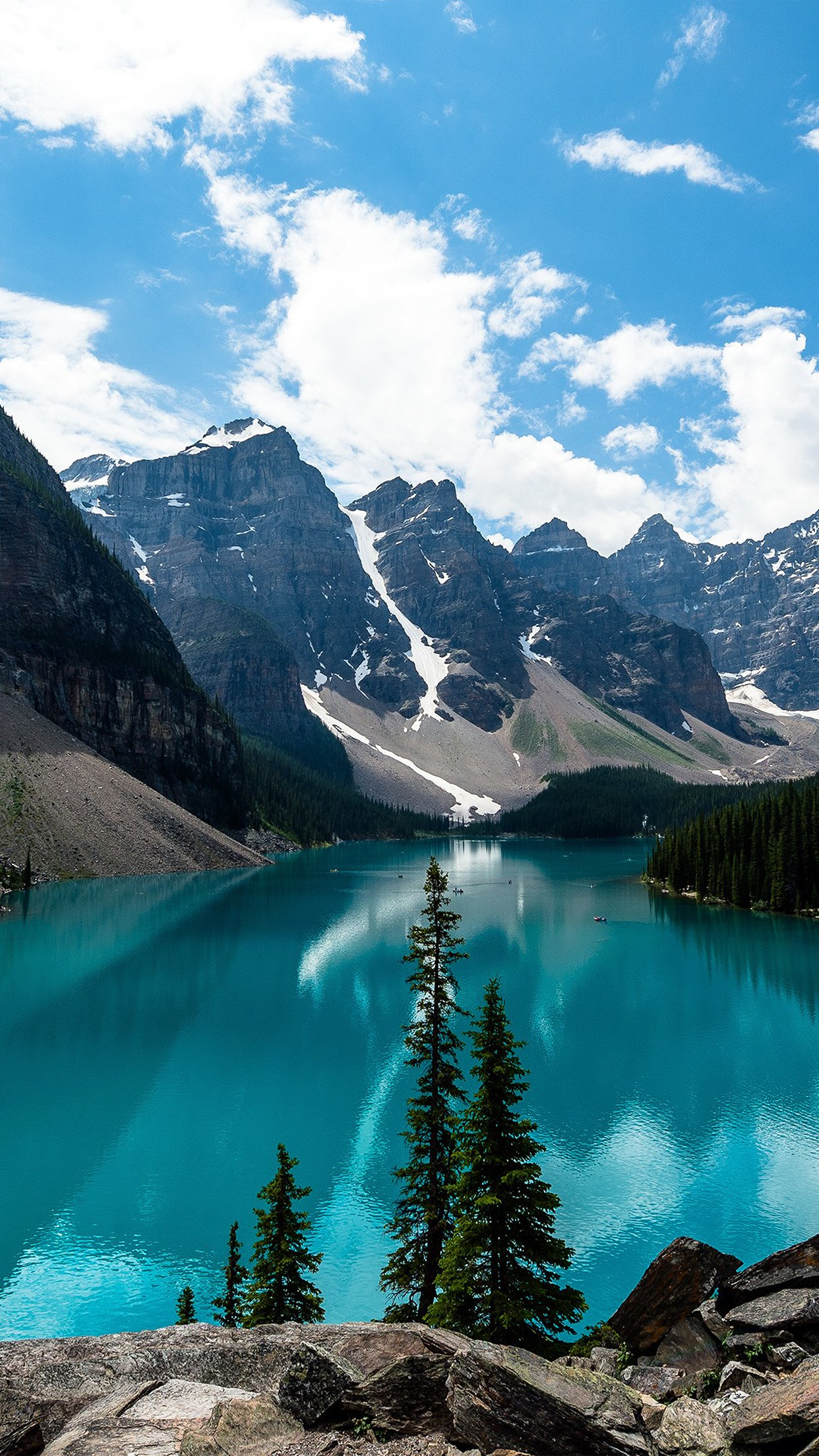 Lake Louise Mountain Fantastic Nature Android Wallpaper