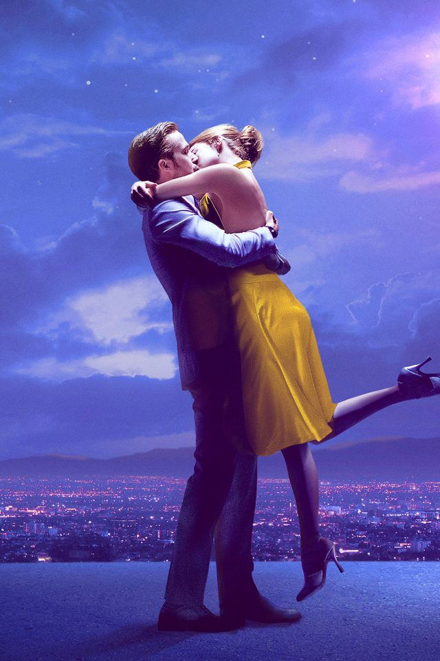 Lalaland Film Movie Purple Blue Poster Illustration Art Jazz Android wallpaper