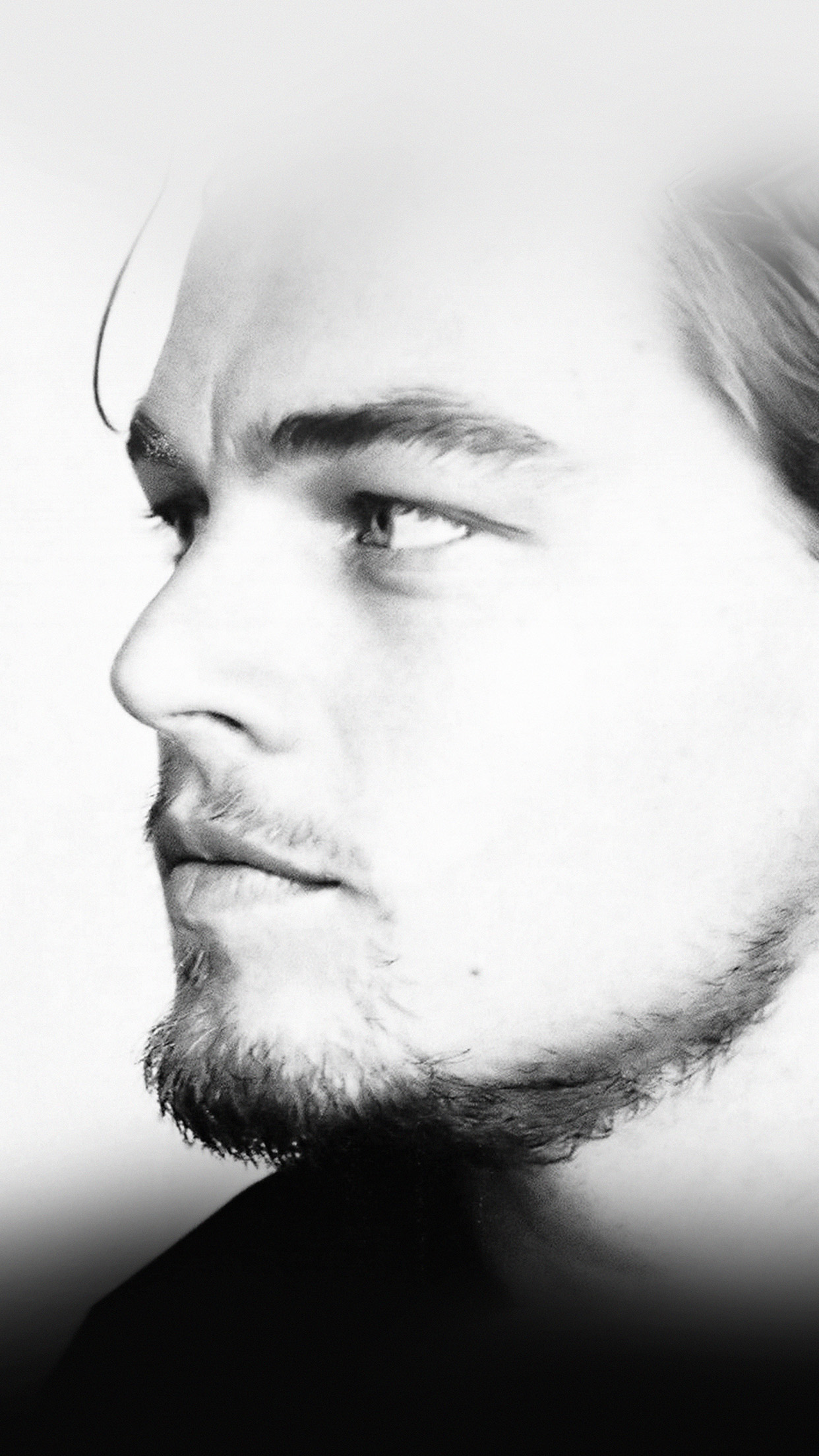 leonardo dicaprio face film star android wallpaper - android hd